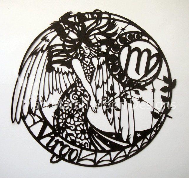 'Virgo' Zodiac Paper Cut £45.00