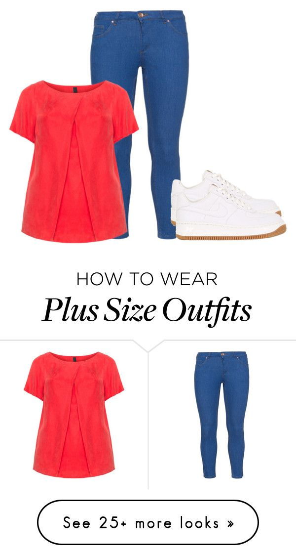 """""""Plus Size - Casual"""" by kurvy-katie on Polyvore featuring Zizzi, Manon Baptiste and NIKE"""