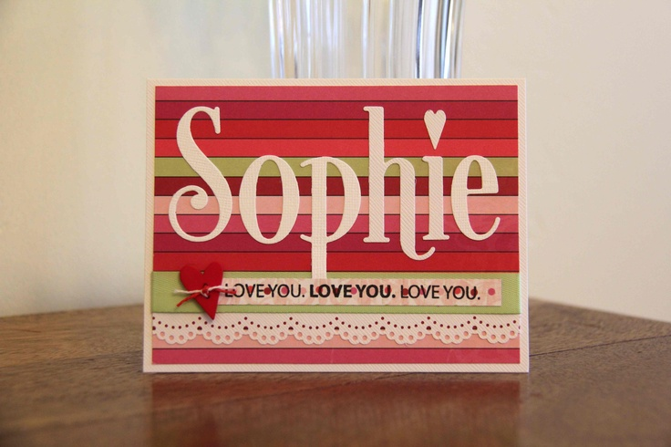 The kids love cards with their names on the front!