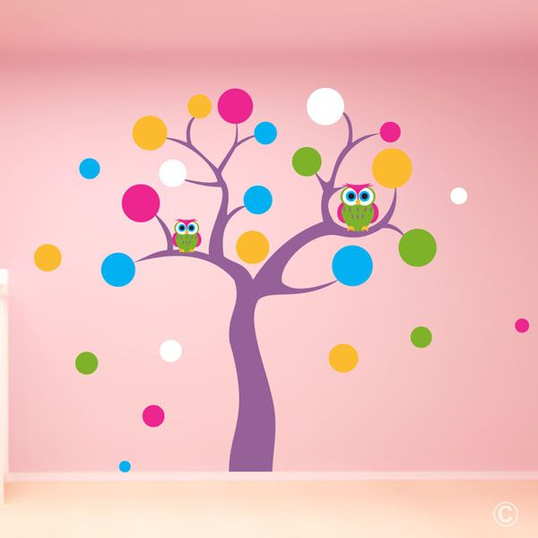 Polka Dot Tree with Owls (WAKG1)