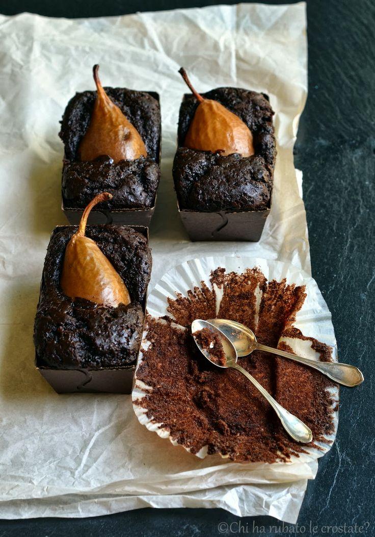Torta vegana al cacao, zucca e pere