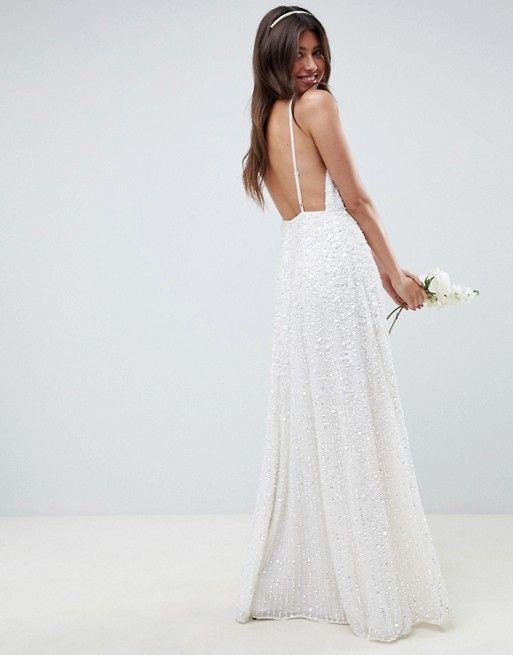 0dc1fbc1c9248 EDITION sequin cami wedding dress in 2019 | Bridal | Asos wedding ...