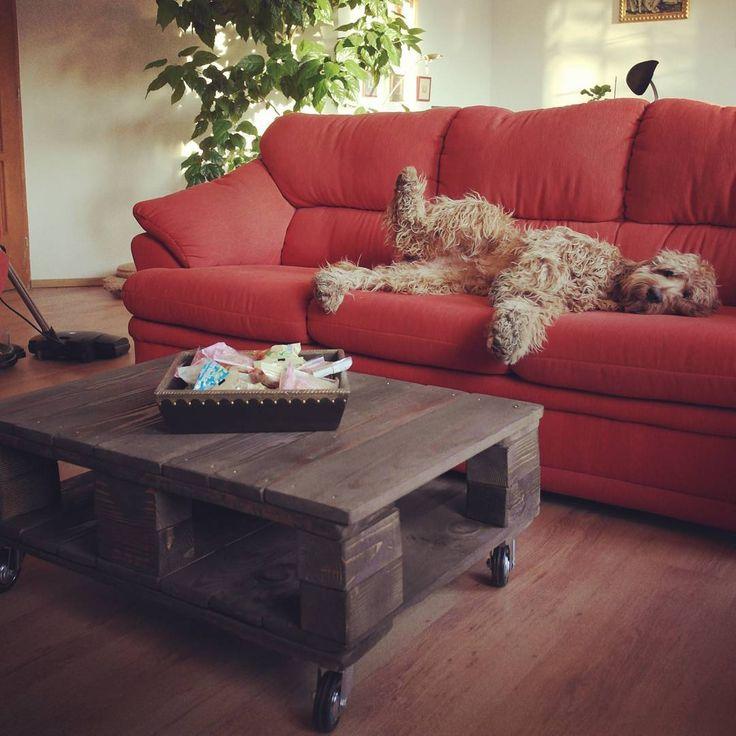 raklapasztal / pallet coffee table