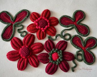 Application 2 4 inches 5-10 cm Irish crochet jewelry от AlisaSonya