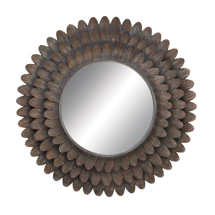 34 Inch Round Mirror Part - 17: This 34-inch Piece Will Look Stylish In Your Home. Decorate With This Round
