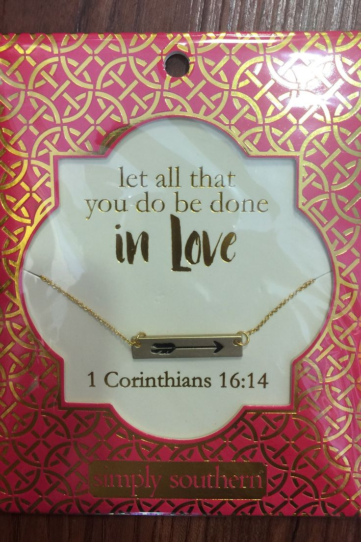 1 Corinthians 16:14 Simply Southern Necklace from Chocolate Shoe Boutique