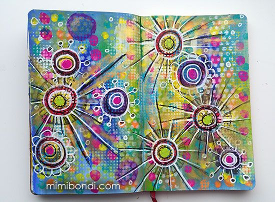 Free art journal tutorial ''My Playground''| Mimi Bondi