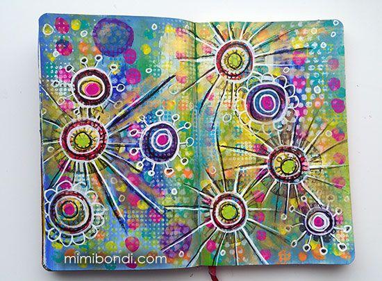 Free art journal tutorial ''My Playground''| Mimi Bondi