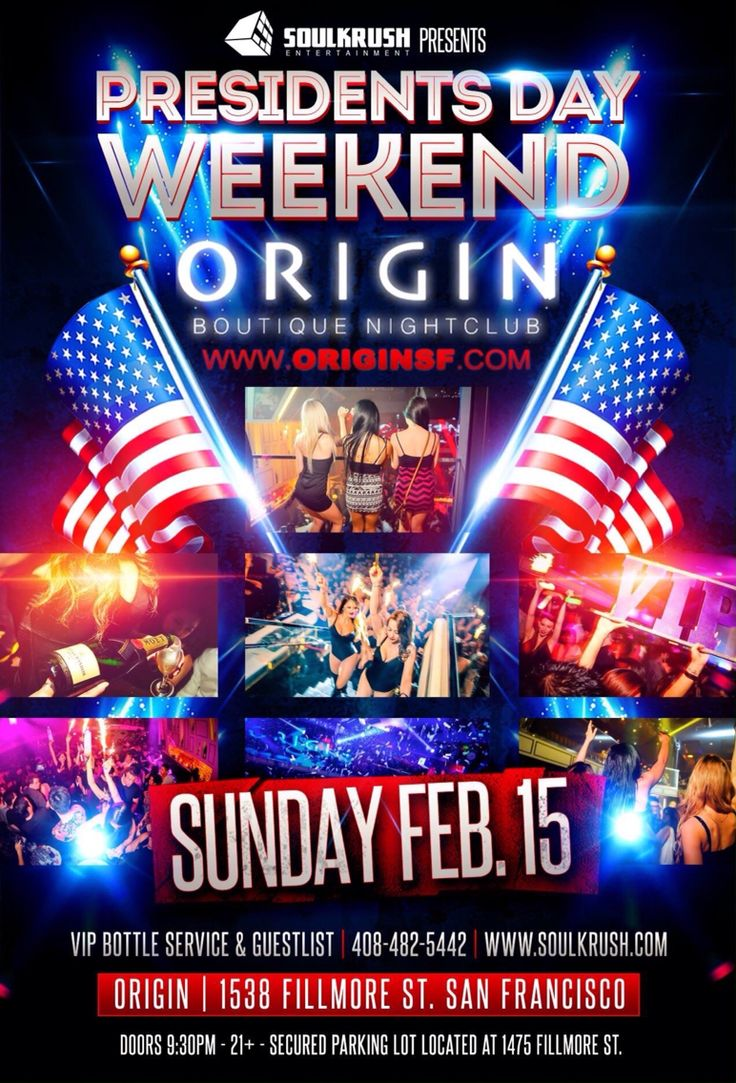 Here we go! Come party @ The Largest PD Celebration @ The #OriginSF x #SoulKrush! FREE B4 1030 signup here > http://eepurl.com/09rRD  VIP/TABLE RSVP CALL OR TEXT | 408-482-5442 KAKAO | SOUL KRUSH INFO@SOULKRUSH.COM  www.soulkrush.com / www.fb.com/soulkrush #Presidents #Weekend #Nightlife #EDM #Trap #HipHop #Party #Asian #SanFrancisco