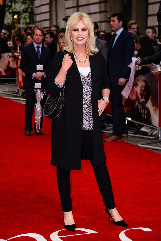 Joanna Lumley at the European premiere of Me Before You at the Curzon Mayfair in London