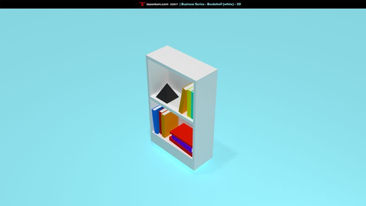 Business Series - Bookshelf 3D #Daily 1  http://www.tazonium.com/business-series-bookshelf-white-3d   #Tazonium #Business #Illustration #Blender3D #LowPoly #Design #Everyday #Furniture #Shelf #White #3D #Office #Books #Knowledge #Illustration #Inspiration #GraphicDesign #Red #Blue #Icon #Hustle