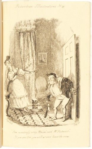 Pickwickian Illustrations by William Heath - the leading caricaturist in early nineteenth century #London.