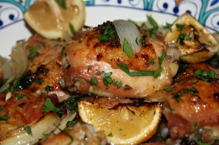 ... Fix Roast Lemon Chicken Thighs with Garlic, White Wine and Fresh Herbs