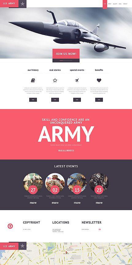 U.S.Army WordPress Template 47525 on Behance