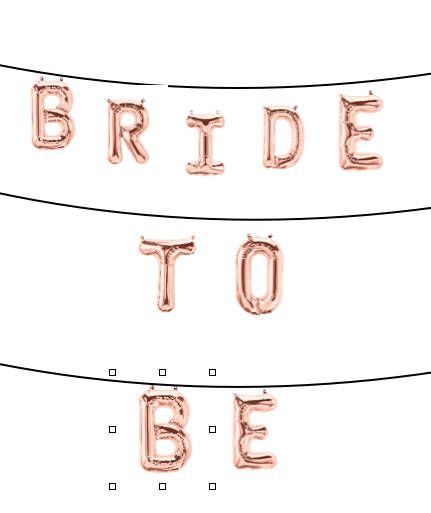 Rose Gold Balloon Banner. Bridal Shower Banner. Bride to Be Banner. Balloon Banner. Letter Balloon Banner. Bridal Shower Party Decor by PaperRabbit87 on Etsy