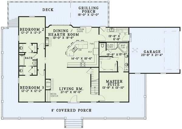 Add a foyer, rotate kitchen cabinets to back wall to create more openness; needs a larger walk in pantry; garage placement needs changing; more closets...but good skeleton plan