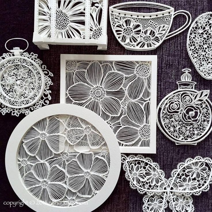 Absolutely amazing intricate and delicate paper cuts by Naho Katayama facebook: Naho Katayama / intricate paper cut website: http://www.nahokatayama.com/