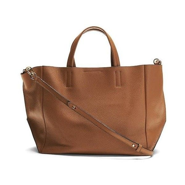 Banana Republic Portfolio Italian Leather Slouch Tote ($148) ❤ liked on Polyvore featuring bags, handbags, tote bags, medium brown, slouchy leather tote, leather tote handbags, leather tote, leather handbag tote and brown leather tote