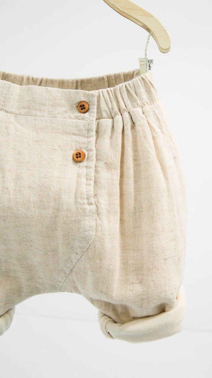 Linen cream shorts