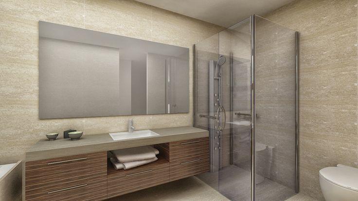 Modelado y Render de baño
