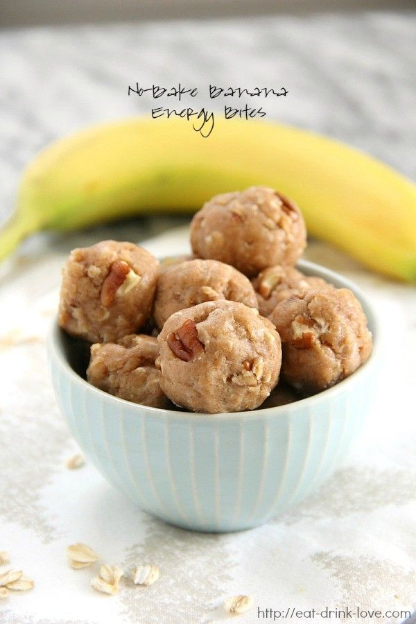 No-Bake Banana Energy Bites - Eat. Drink. Love.