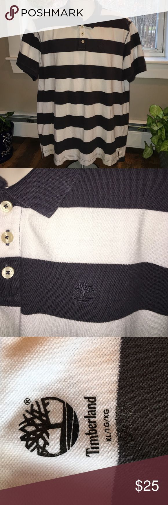 Timberland Men's Polo Gray and white polo in excellent condition. Made with 100% cotton. Timberland Shirts Polos