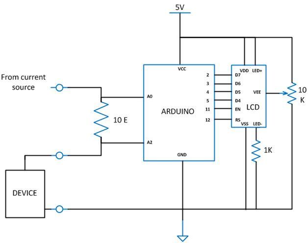 Arduino Based Wattmeter In 2020 Arduino Circuit Diagram Arduino Based Projects