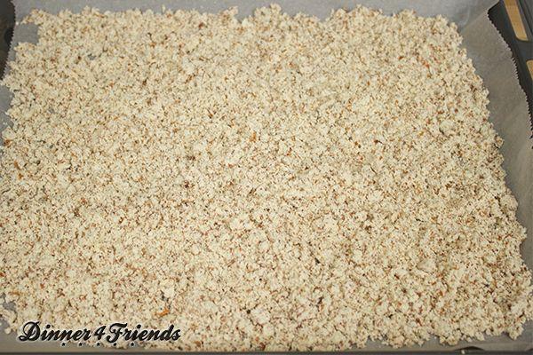 Das Mandelmehl ist ein Nebenprodukt beim Mandelmilch selbst machen.