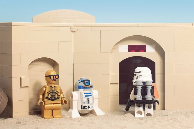 These Aren't The Droids You're Looking For by powerpig | LEGO Star Wars R2-D2 , C-3PO Sandtrooper Minifigs