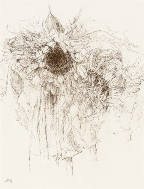 RA Summer Exhibition 2015 work 188 :STUDY OF SUNFLOWERS by Diana Armfield RA, £1500.