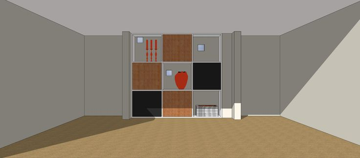 SketchUp shelving design