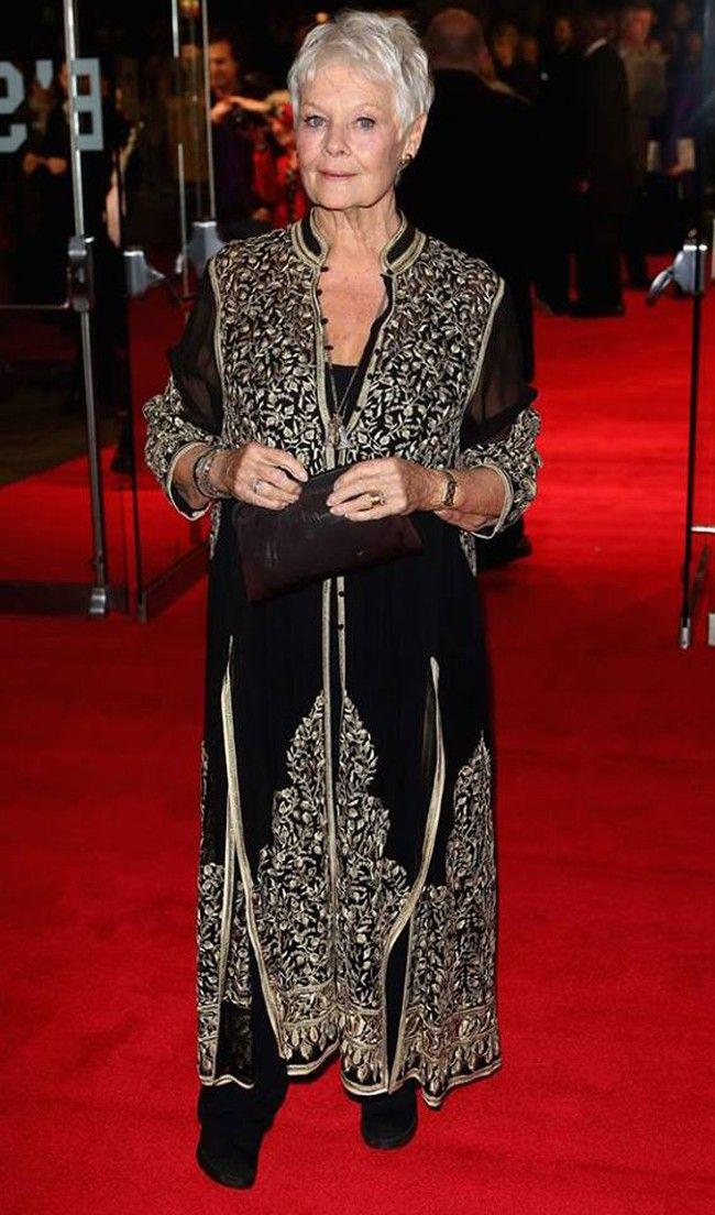 Judi Dench wears an Abu Jani-Sandeep Khosla creation