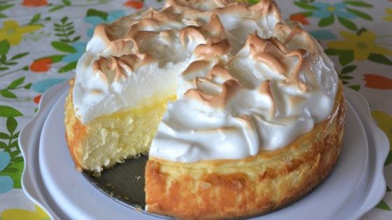 Cheesecake and lemon meringue pie come together in this decadent lemon meringue cheesecake dessert that will impress all of your guests.