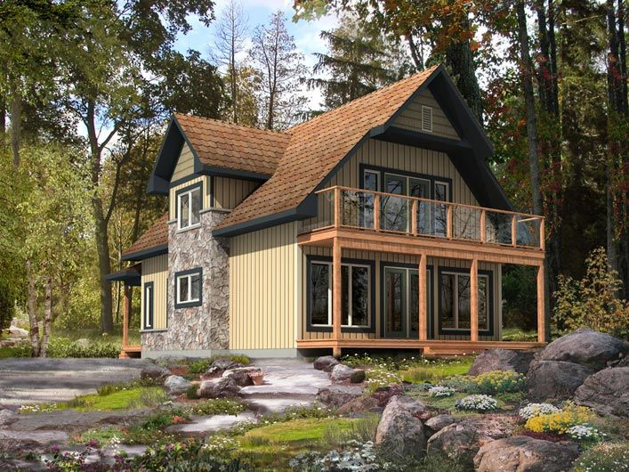 Selkirk model by beaver homes and cottages includes for Waterfront cottage house plans