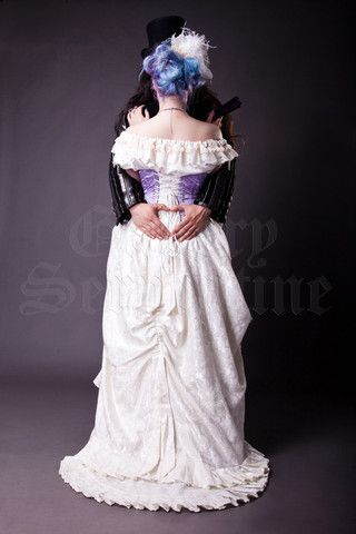 Lavender & Ivory Dreams Bridal Gown. http://www.galleryserpentine.com/collections/alternative-bridal-formal