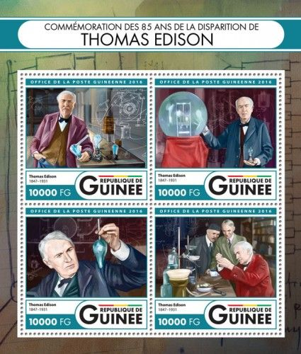 GU16422a Commemorating 85 years of the death of Thomas Edison (Thomas Edison (1847–1931))
