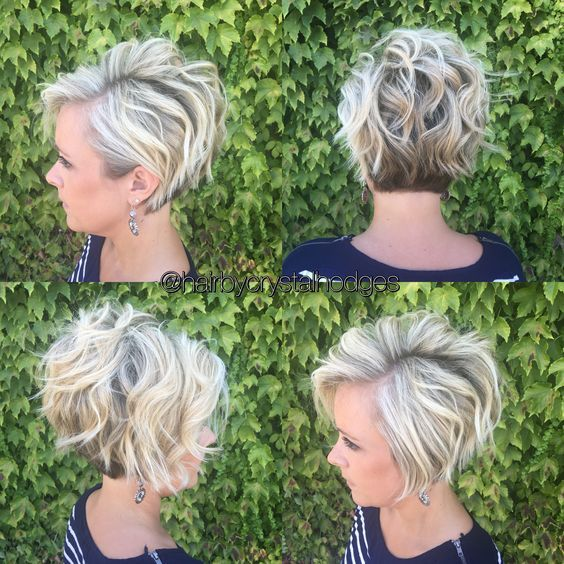 Stylish Messy Hairstyles for Short Hair - Women Short Haircut Ideas