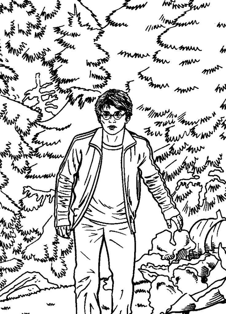 kleurplaat Harry Potter en de gevange van Azkaban Kids-n-Fun