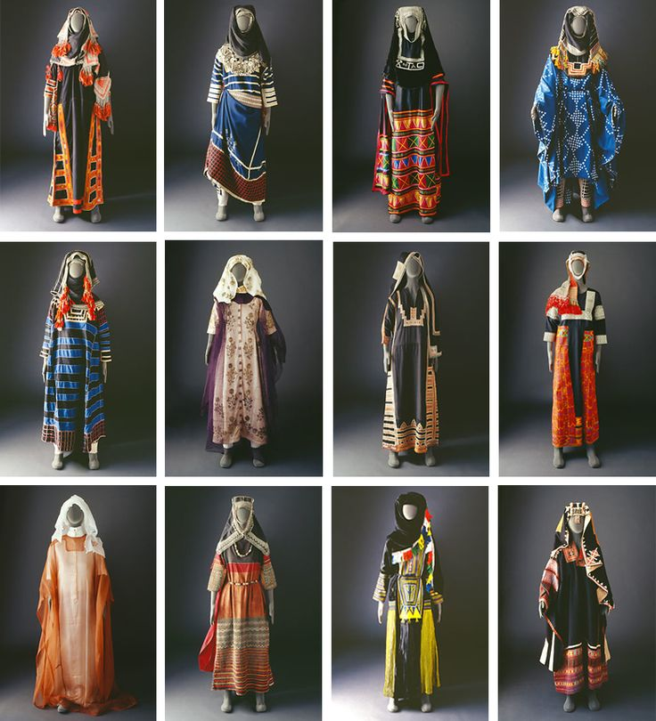 Typology of Saudi Arabian dress. From the Mansoojat Foundation online museum. #textile #costume #collection