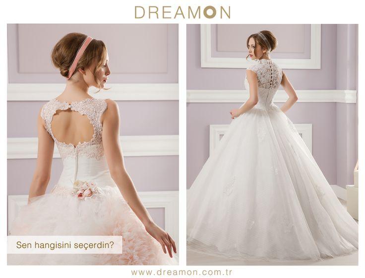 """Dreamon'un birbirinden özel modellerinden """"Sen Hangisini Seçerdin?"""" Blush - Magenta  www.dreamon.com.tr  #gelinlik #gelinlikmodelleri #dreamongelinlik #dreamon #gelinlikler #geceelbisesi #abiyeelbise #blush #magenta"""