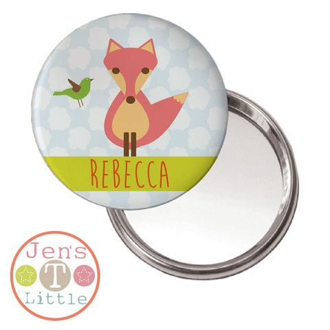 Foxy Foxy Compact Mirror - Personalised