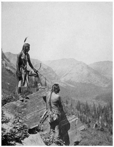Black Bull and Stabs by Mistake, Glacier Park 1915, TJ Hileman