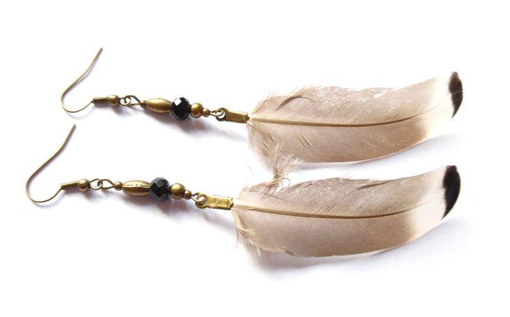 Örhängen med fjädrar