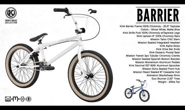 Kink BMX Barrier - From the Twenty-Twelve Collection - Such a clean bike. #bmx #kink