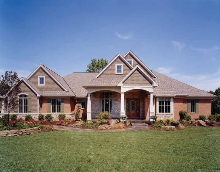 Eplans Craftsman House Plan - Brick, Stone, and Shake-Shingle Facade - 5068 Square Feet and 5 Bedrooms(s) from Eplans - House Plan Code HWEPL10462