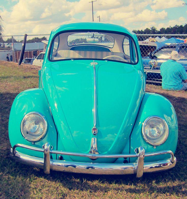 Turquoise Volkswagen Beetle Bug. Ugh I've always wanted one