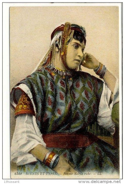 Carte Postale Ancienne Algérie - Kabylie. Femme Kabyle Riche - Algeria
