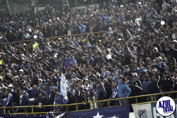 El Campín se pintó de azul en los cuartos de final