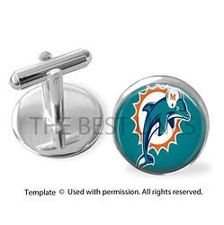 MIAMI DOLPHINS   Find us at these as well:  http://www.bonanza.com/booths/Kustom_Kufflinks  http://www.rebelsmarket.com/rebel-store/kustom-kufflinks