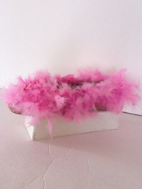 soulier porte-bijoux plume rose  No. 0599